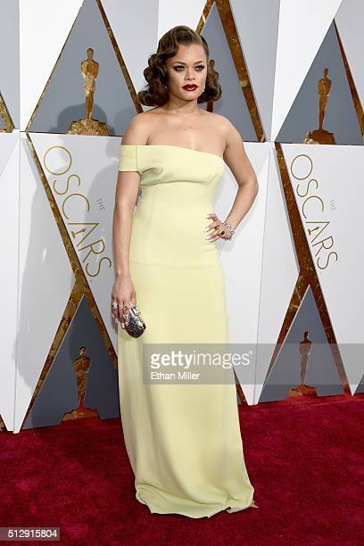 Singer Andra Day attends the 88th Annual Academy Awards at Hollywood Highland Center on February 28 2016 in Hollywood California