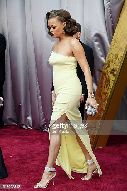 Singer Andra Day attends the 88th Annual Academy Awards at Hollywood & Highland Center on February 28, 2016 in Hollywood, California.