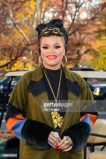 Singer Andra Day attends the on 89th Annual Macy's Thanksgiving Day Parade on November 26, 2015 in New York City.