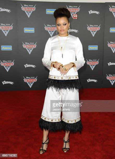 Singer Andra Day attends the premiere of 'Cars 3' at Anaheim Convention Center on June 10 2017 in Anaheim California
