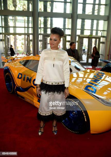 Singer Andra Day attends the premiere of Disney and Pixar's 'Cars 3' at Anaheim Convention Center on June 10 2017 in Anaheim California