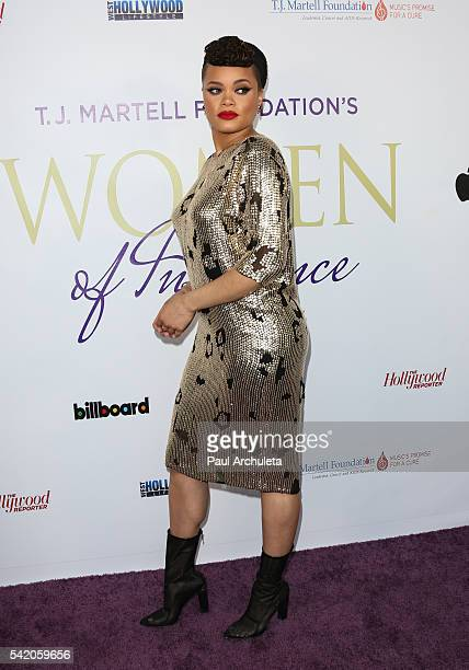 Singer Andra Day attends the Women Of Influence Awards at The Wilshire Ebell Theatre on June 21 2016 in Los Angeles California