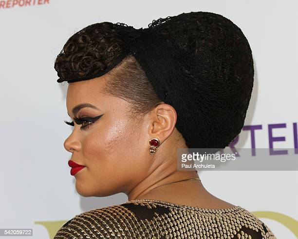 Singer Andra Day Hair Detail attends the Women Of Influence Awards at The Wilshire Ebell Theatre on June 21 2016 in Los Angeles California