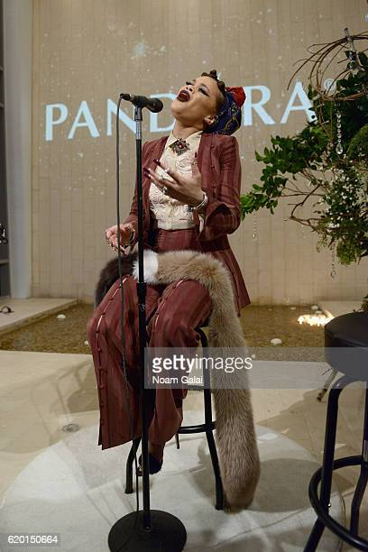 Singer Andra Day performs at PANDORA Jewelry VIP Holiday Event on November 1 2016 in New York City