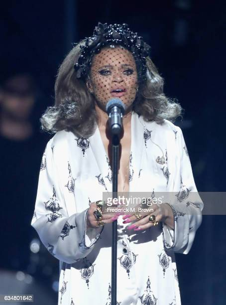 Singer Andra Day performs onstage at the 48th NAACP Image Awards at Pasadena Civic Auditorium on February 11, 2017 in Pasadena, California.