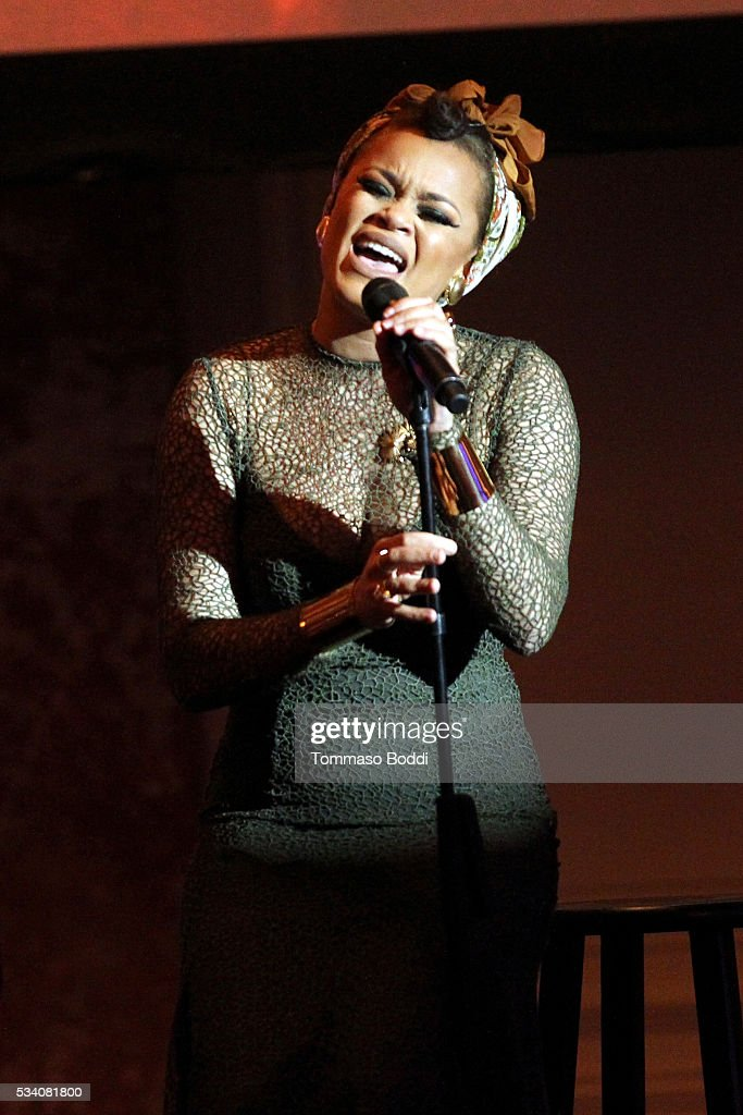 Singer Andra Day performs onstage during the 41st Annual Gracie Awards at Regent Beverly Wilshire Hotel on May 24, 2016 in Beverly Hills, California.