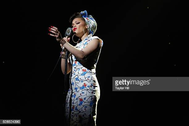 Singer Andra Day performs onstage during YouTube Brandcast presented by Google on May 5 2016 in New York City
