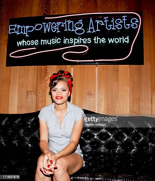 Singer Andra Day poses at the WBR 'Summer Sessions' at Warner Bros Records Boutique Store on June 28 2013 in Burbank California