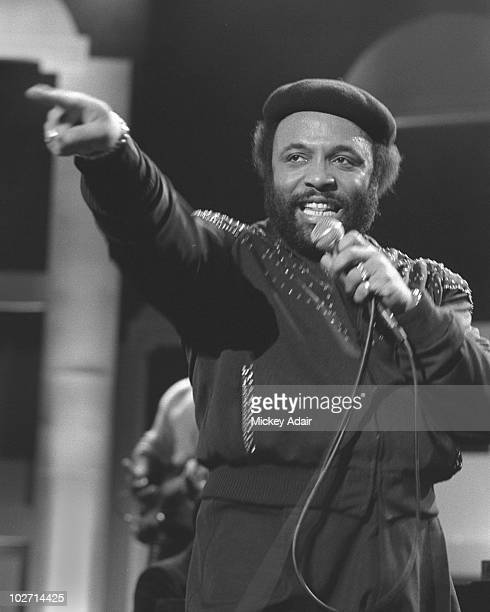 Singer Andrae Crouch performs at the musical gala for the first MLK day on January 20 1986 in Atlanta Georgia
