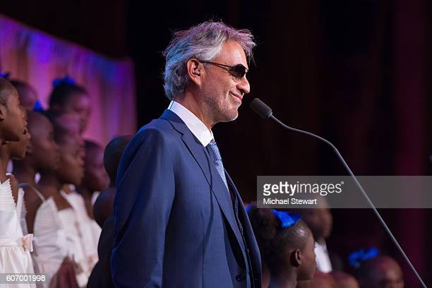 Singer Andrea Bocelli attends the World Childhood Foundation USA Thank You Gala 2016 at Cipriani 42nd Street on September 16 2016 in New York City