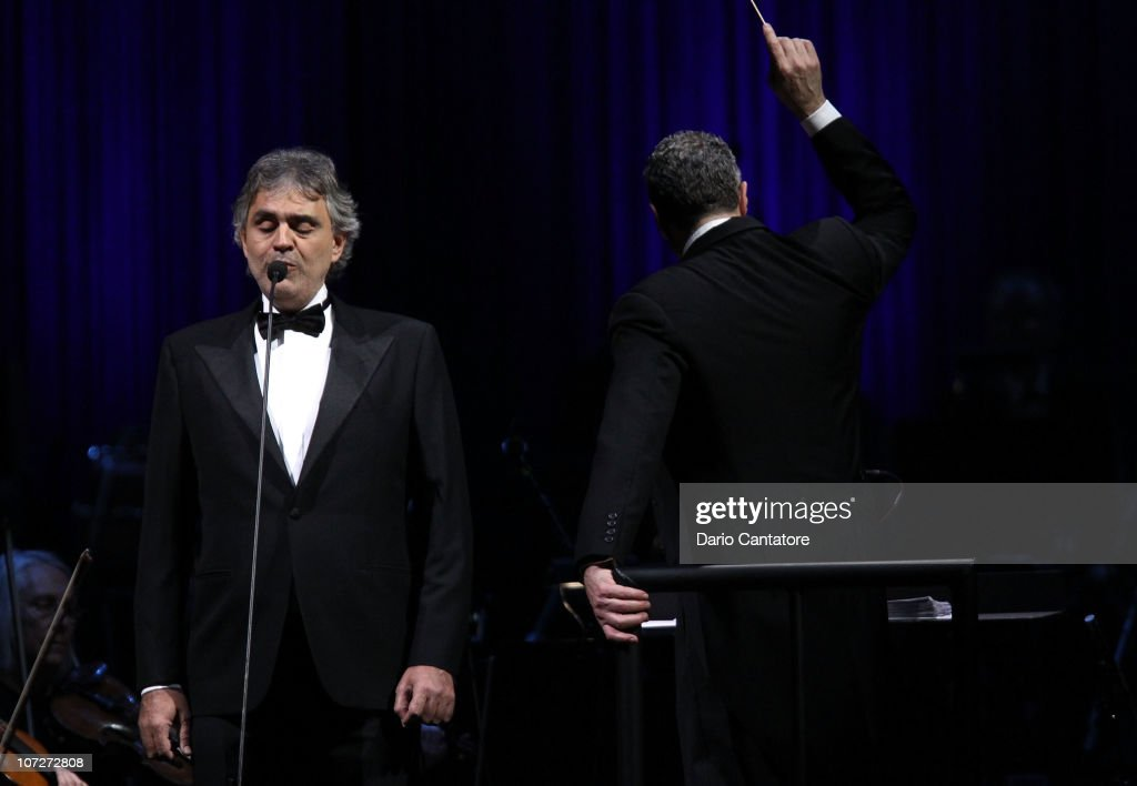Beautiful Singer Andrea Bocelli Performs At Madison Square Garden On December 2, 2010  In New York Nice Look