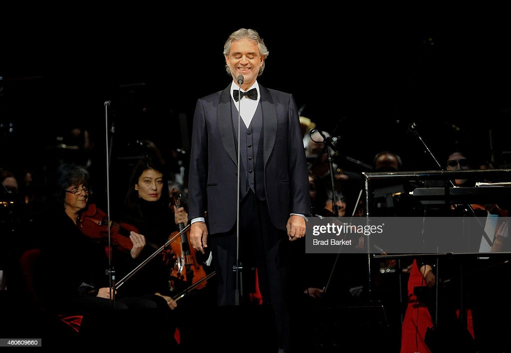 Andrea Bocelli In Concert   New York, NY Pictures