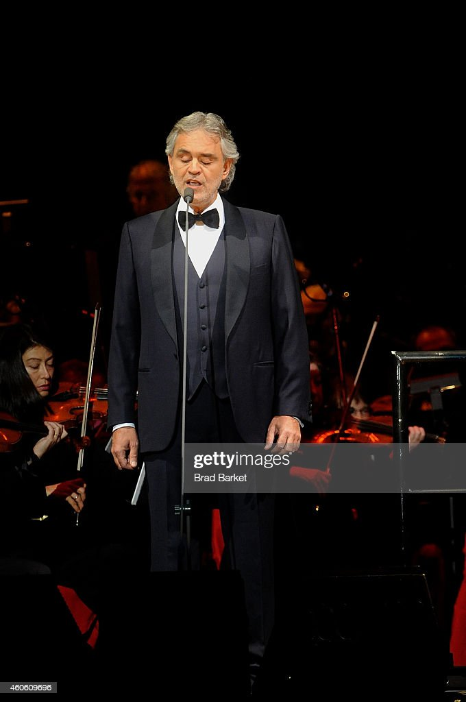 Singer Andrea Bocelli Performs At Madison Square Garden On December 17,  2014 In New York Design Inspirations