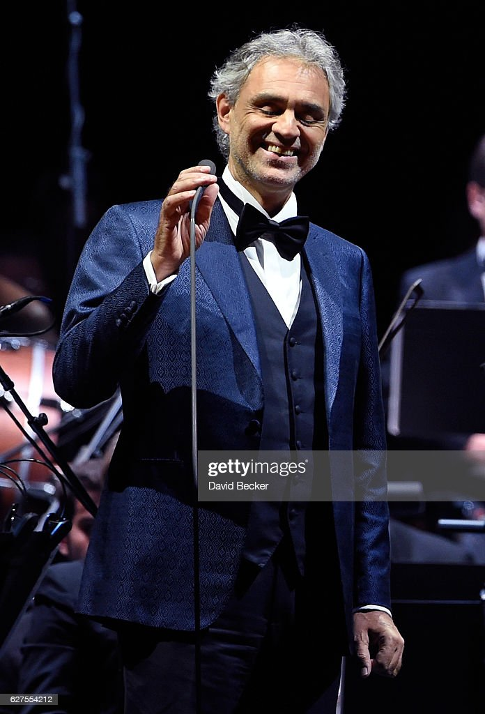 Singer Andrea Bocelli performs at MGM Grand Garden Arena as