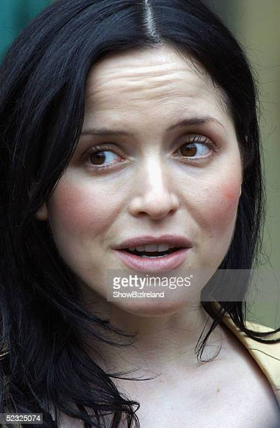 Singer Andrea Corr launches the 'Tin Whistles for Teachers' initiative at St Pauls Senior School Greenhills March 9 2005 in Dublin Ireland