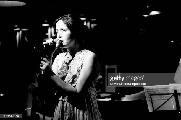 Singer Andrea Corr of Irish group The Corrs performs live on stage during the club's 50th birthday party at Ronnie Scott's Jazz Club in Soho, London...