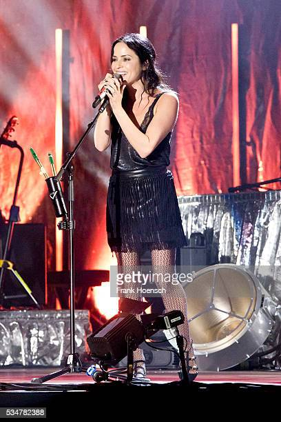 Singer Andrea Corr of the Irish band The Corrs performs live during a concert at the MercedesBenz Arena on May 27 2016 in Berlin Germany