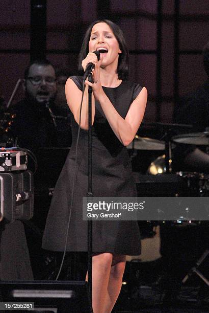 singer andrea corr performs on stage at the american christmas carol benefitting the golden hat foundation - American Christmas Carol