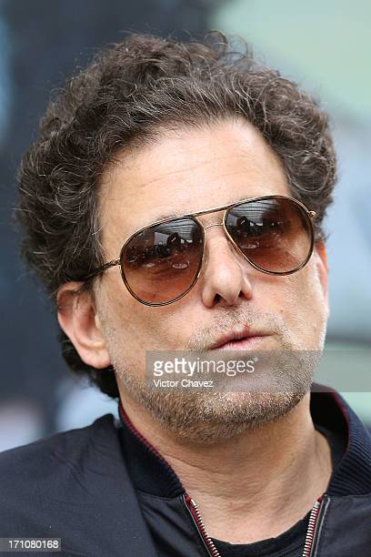Singer Andres Calamaro attends a press conference at Auditorio Nacional on June 21 2013 in Mexico City Mexico