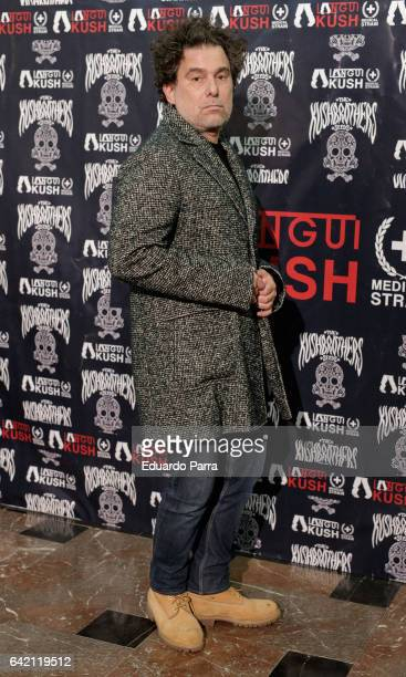 Singer Andres Calamaro attends the 'El Langui concert' photocall at Apolo theatre on February 16 2017 in Madrid Spain