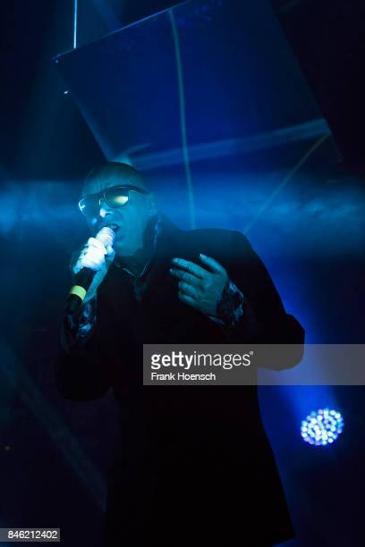 Singer Andrew Eldritch of the British band The Sisters of Mercy performs live on stage during a concert at the Columbiahalle on September 12 2017 in...