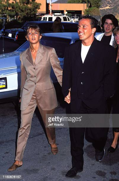 Singer Andrew Ridgeley and Wife Keren Woodward at the 1990 MTV Video Music Awards at in Los Angeles California