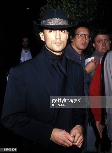 Singer Andrew Ridgeley attends the Virgin Records Party on February 23 1990 at Pazzia Restaurant in Los Angeles California