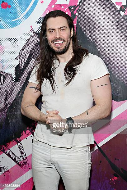 Singer Andrew WK poses for a photo before performing an exclusive live session to celebrate the launch of Uber with Spotify at Spotify NYC on...