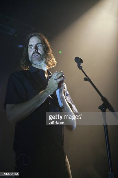 Singer Andrew Wyatt of Miike Snow performs at The Fillmore Charlotte on June 15 2017 in Charlotte North Carolina