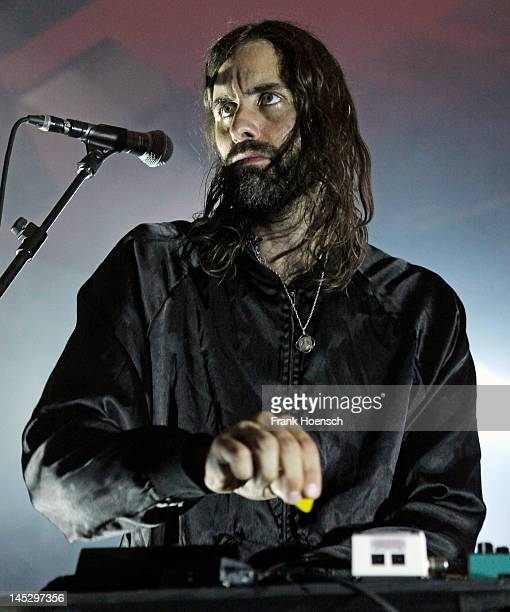 Singer Andrew Wyatt of Miike Snow performs live during the Melt Weekender Festival at the Astra on May 25 2012 in Berlin Germany
