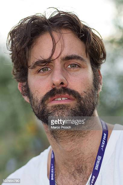 Singer Andrew Wyatt of Miike Snow poses backstage at the Melt festival in Ferropolis on July 17 2010 in Graefenhainichen Germany