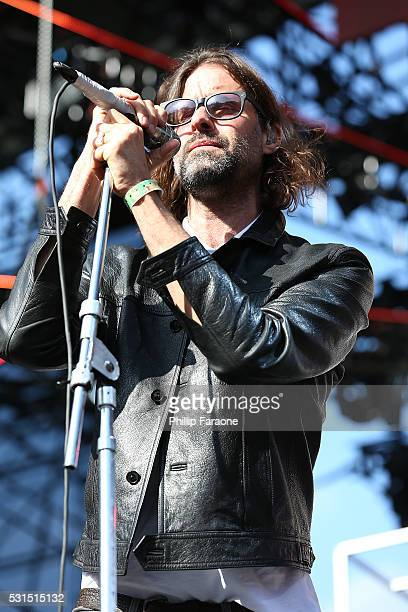 Singer Andrew Wyatt of the musical group Miike Snow performs onstage during the 2016 KROQ Weenie Roast at Irvine Meadows Amphitheatre on May 14 2016...