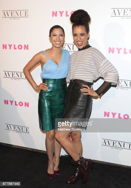 Singer Andy Allo and actor Jasmin Savoy Brown attends NYLON's Annual Young Hollywood May Issue Event at Avenue on May 2 2017 in Los Angeles California
