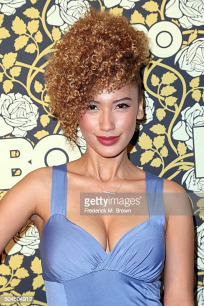 Singer Andy Allo attends HBO's Post 2016 Golden Globe Awards Party at Circa 55 Restaurant on January 10 2016 in Los Angeles California