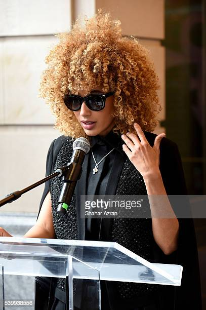Singer Andy Allo speaks during Prince Walk of Fame Induction and 2016 Spring Gala at The Apollo Theater on June 13 2016 in New York City