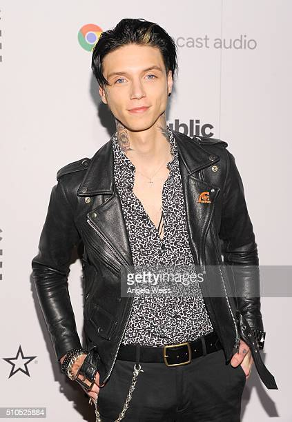 Singer Andy Biersack attends the Republic Records Grammy Celebration presented by Chromecast Audio at Hyde Sunset Kitchen Cocktail on February 15...