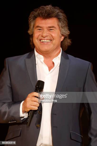 Singer Andy Borg performs at the TV Show 'Stefanie Hertel - Meine Stars' on September 25, 2017 in Zwickau, Germany.