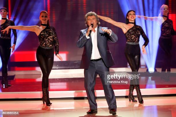 Singer Andy Borg performs at the TV Show 'Stefanie Hertel Meine Stars' on September 25 2017 in Zwickau Germany