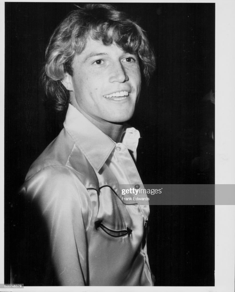 Singer Andy Gibb attending a party held for his brothers, the 'Bee Gees', at the Beverly Hilton Hotel, California, July 1979.