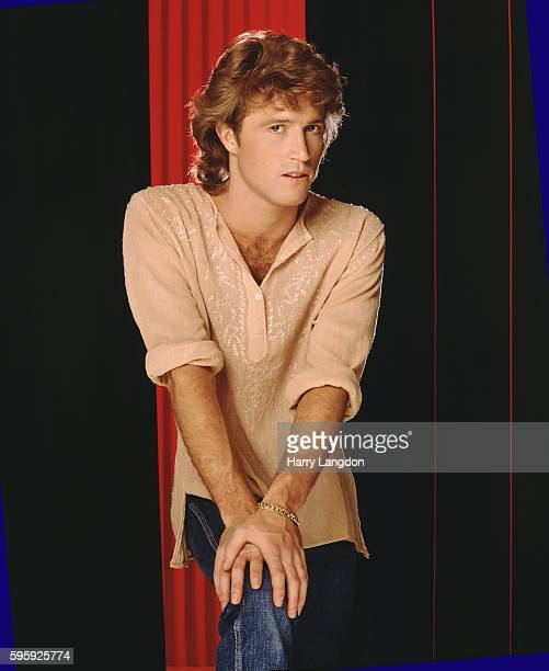 Singer Andy Gibb poses for a portrait in 1981 in Los Angeles California