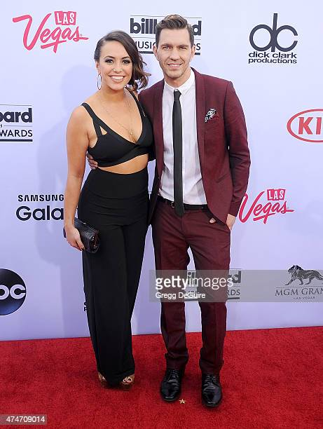 Singer Andy Grammer and Aijia Lise arrive at the 2015 Billboard Music Awards at MGM Garden Arena on May 17 2015 in Las Vegas Nevada