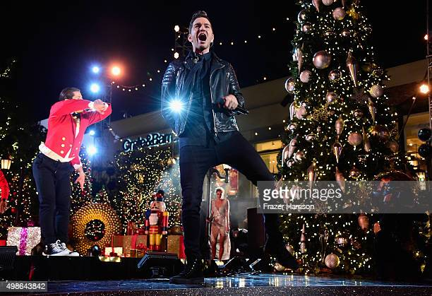 Singer Andy Grammer performs on stage atnABC's 'Dancing With The Stars' Live Finale at The Grove on November 24 2015 in Los Angeles California