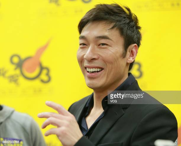 Singer Andy Hui attends the press conference of his concert on April 5 2017 in Hong Kong China