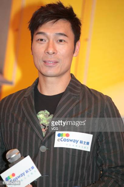 Singer Andy Hui attends the press conference of shopping mall Ecosway on May 5 2017 in Hong Kong China