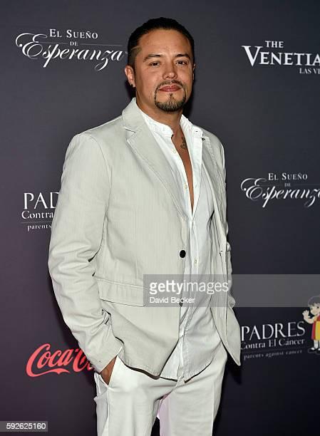 Singer Andy Vargas attends the Padres Contra El Cancer's 16th annual El Sueno de Esperanza celebration at The Venetian Las Vegas on August 20 2016 in...
