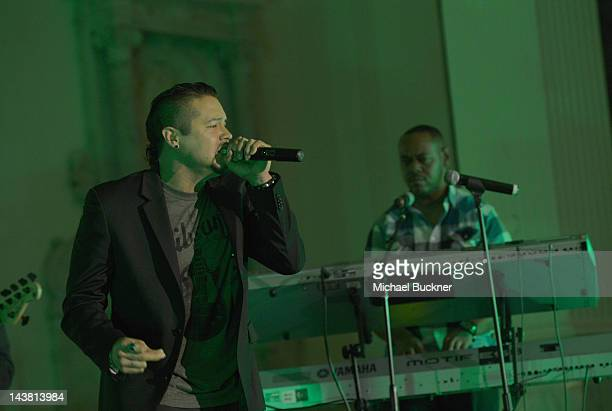 Singer Andy Vargas performs onstage at A Better LA's First Annual In the Art of the City Gala held at the Vibiana on May 3 2012 in Los Angeles...