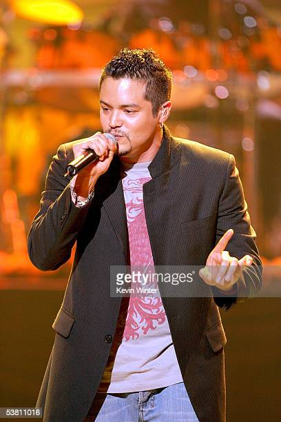 Singer Andy Vargas performs onstage at the 2005 World Music Awards at the Kodak Theatre on August 31 2005 in Hollywood California