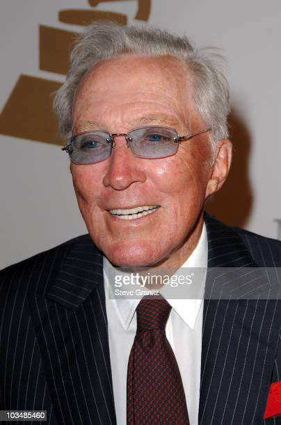 Singer Andy Williams attends the 2009 GRAMMY Salute To Industry Icons honoring Clive Davis at the Beverly Hilton Hotel on February 7 2009 in Beverly...