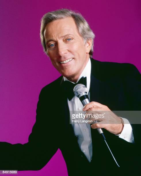 Singer Andy Williams poses for a portrait circa 1990 in Los Angeles California