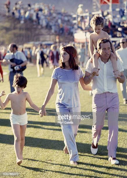 Singer Andy Williams wife Claudine Longet and sons Christian Williams and Robert Williams attend 11th Annual Bob Hope Desert Golf Classic on February...